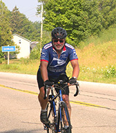 Ralf rides in charity race
